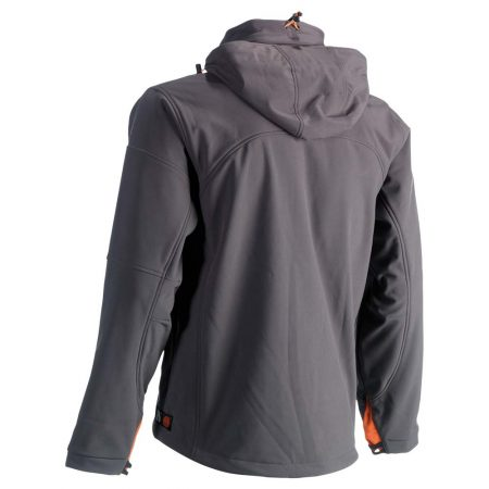 herock poseidon softshell zip-front jacket in grey reverse