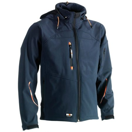 herock poseidon softshell zip-front jacket in navy