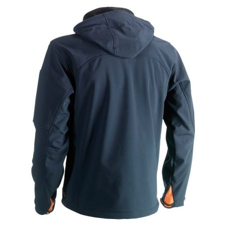 herock poseidon softshell zip-front jacket in navy reverse