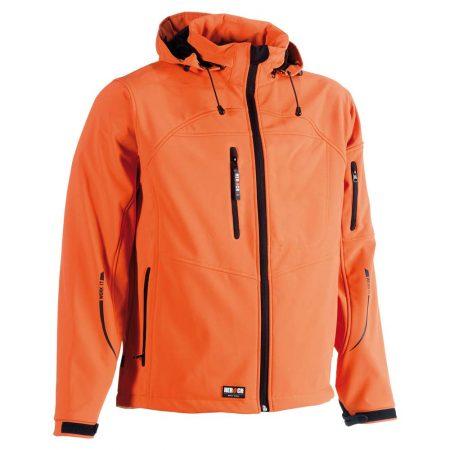 herock poseidon softshell zip-front jacket in orange