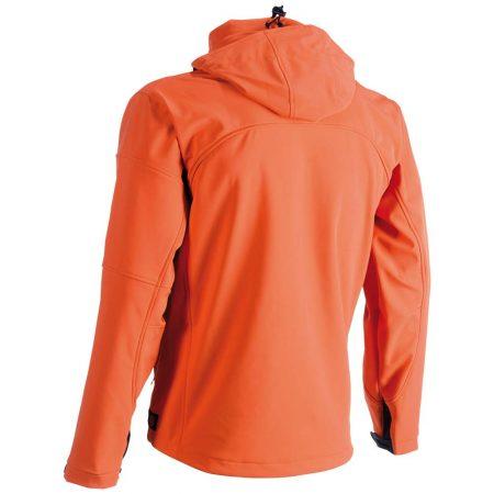herock poseidon softshell zip-front jacket in orange reverse