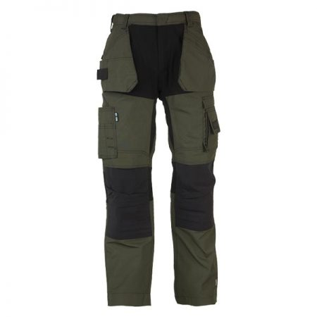herock spector work trousers in khaki and black