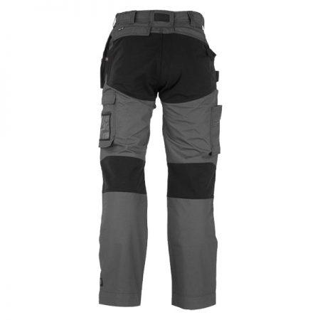 herock spector work trousers in grey and black reverse