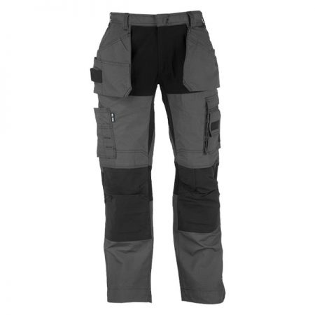 herock spector work trousers in grey and black