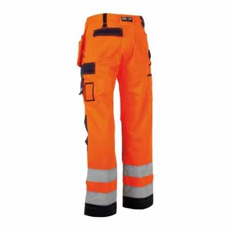 herock orange and navy hi vis trousers reverse