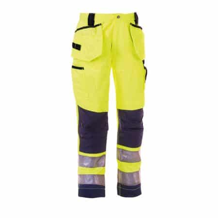 herock yellow and navy hi vis trousers