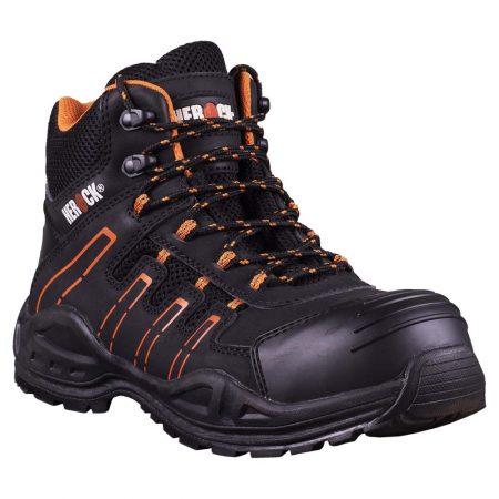 herock thallo safety boots black and orange