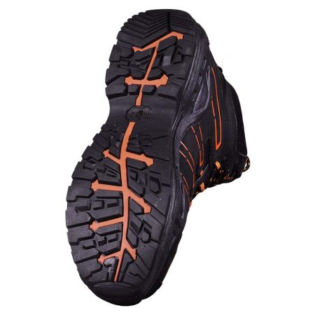 herock thallo safety boots black and orange sole