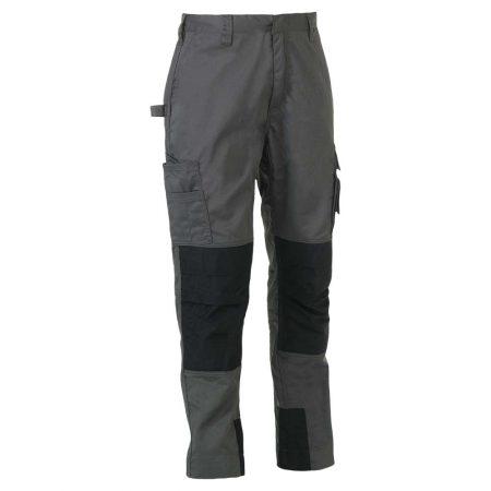 herock titan grey and black workwear trousers