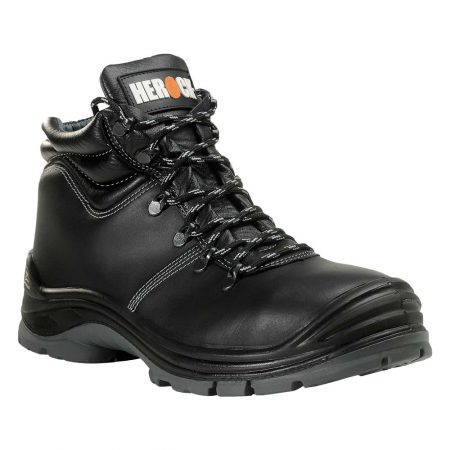 herock troy water resistant safety boots in black