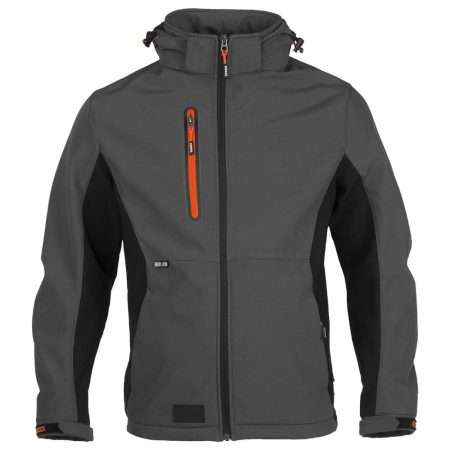 herock trystan zip-front jacket in grey and black