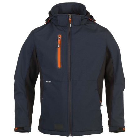 herock trystan zip-front jacket in navy