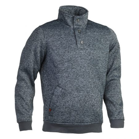 herock grey button neck sweater