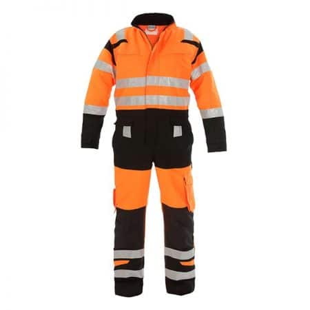 hi vis orange and black coverall
