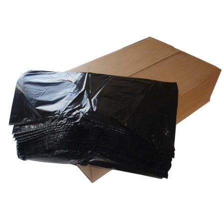 box of black bin bags