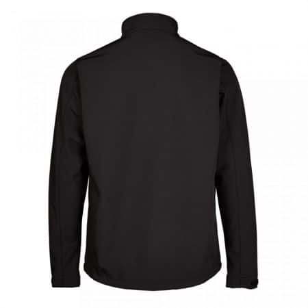 supertouch black softshell zip-front jacket reverse
