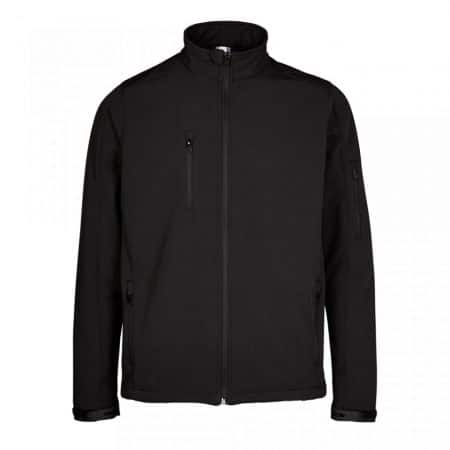supertouch black softshell zip-front jacket