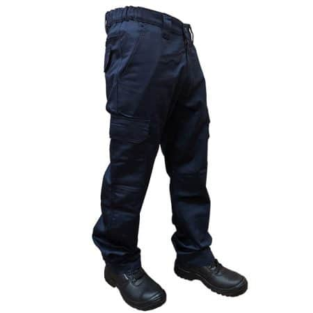 supertouch navy combat trousers with knee pad pockets