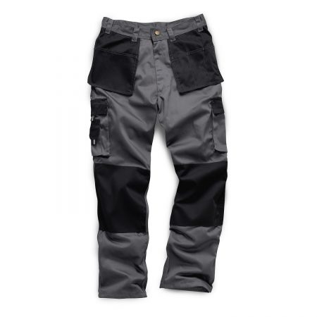 standsafe work combat trousers with knee pad pockets in grey & black