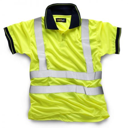 standsafe hi vis polo shirt in yellow