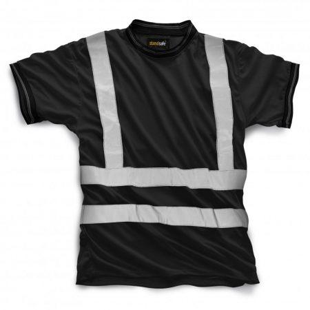standsafe hi vis tshirt in black