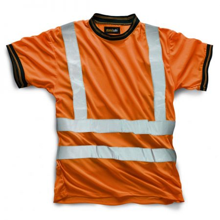 standsafe hi vis tshirt in orange
