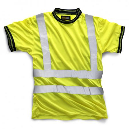 standsafe hi vis tshirt in yellow