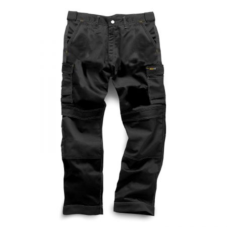 standsafe work combat trousers with knee pad pockets in black