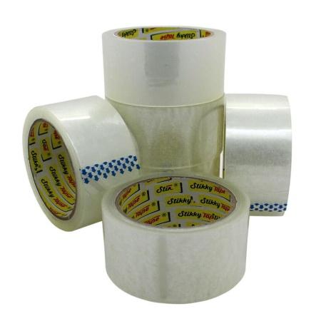 stikky tape clear parcel tape 6 rolls