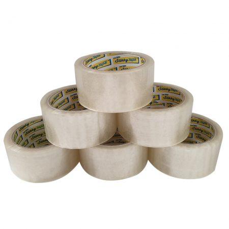 stikky tape low noise clear parcel tape