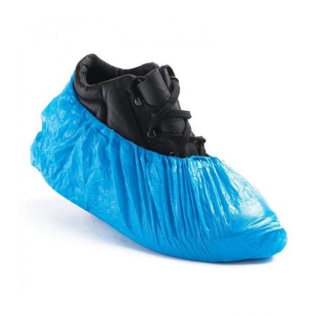 supertouch disposable overshoes in blue