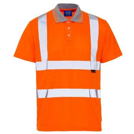 supertouch hi vis polo shirt in orange