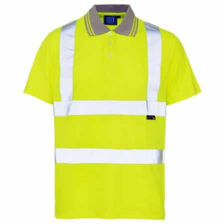 supertouch hi vis polo shirt in yellow