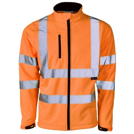 supertouch soft shell hi-vis jacket in orange