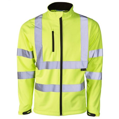 supertouch soft shell hi-vis jacket in yellow