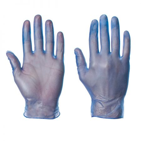 supertouch vinyl blue gloves