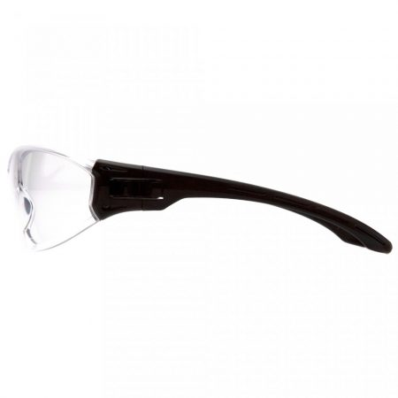pyramex trulock clear safety glasses anti fog lens side view