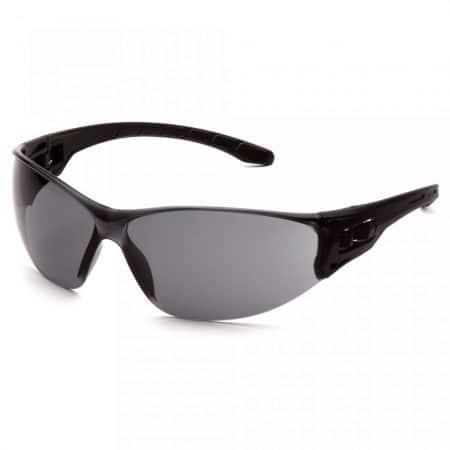 pyramex trulock clear safety glasses grey anti fog lens