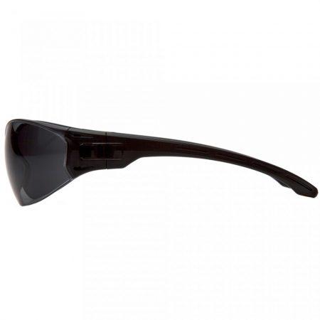 pyramex clear safety glasses grey anti fog lens side view