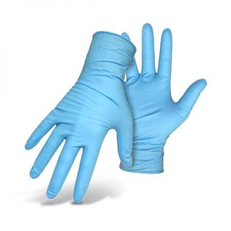unigloves unicare soft nitrile gloves in blue